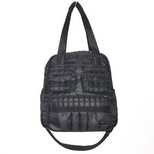 Lug Black Quilted Puddle Jumper Travel Bag Carryon